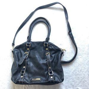 Steve Madden black faux leather cross body purse